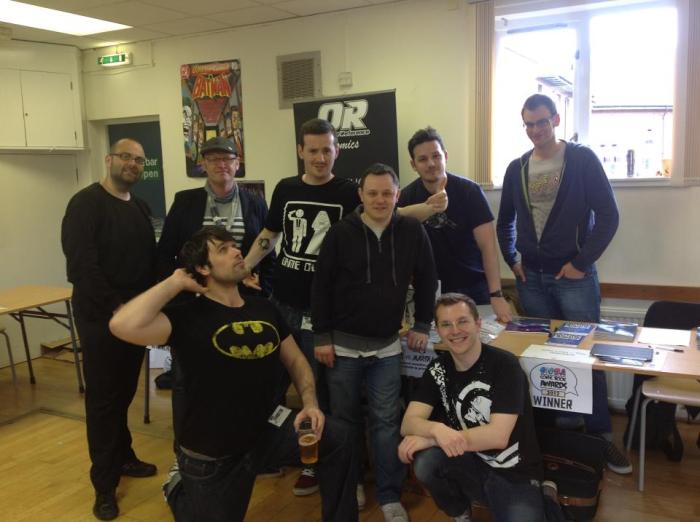 Me with some Glasgow comics pals in 2012. So young, so full of hope...